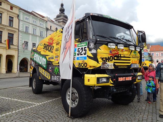 kolorowa ciężarówka